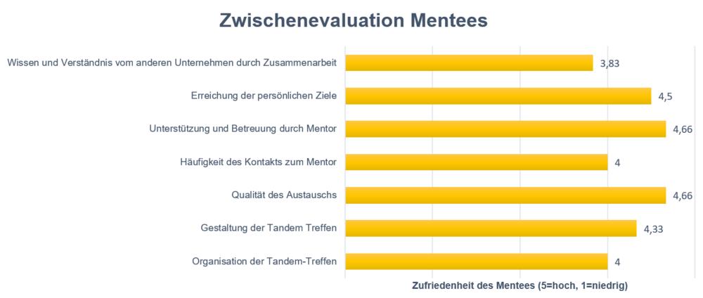 Ergebnisse der Zwischenevaluation der Mentees