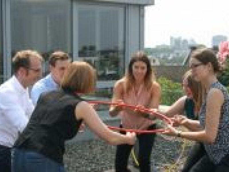 In Aktion: Teambuilding-Workshop